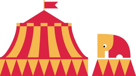 The circus elephant stands Vector