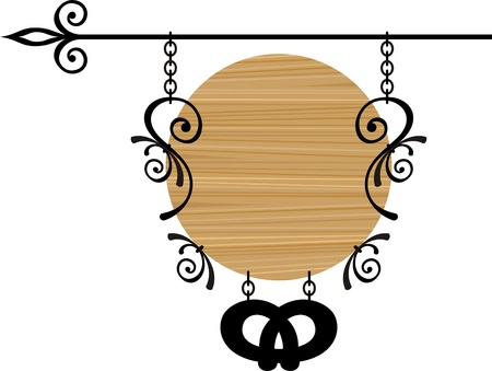 Wooden sign with place for text, vector illustration Stock Vector - 11377327