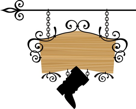 Wooden sign with place for text, vector illustration Stock Vector - 11377330