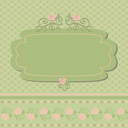 Vintage frame, vector retro background, vector illustration Stock Vector - 11494854