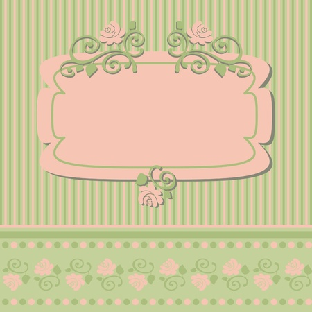 Vintage frame, vector retro background, vector illustration Vector