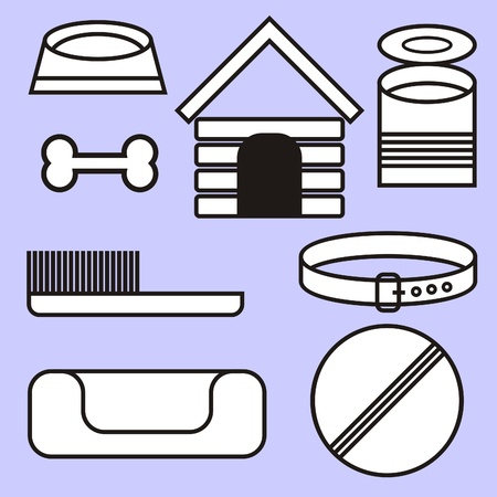 accessory kit for the care of a dog Stock Vector - 11494859