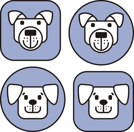 Icons from dogs of various breeds Stock Vector - 11494871