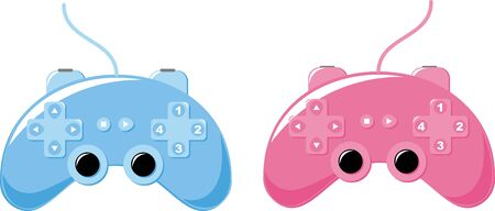 Game console will have fun. illustration Vector