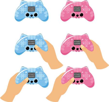 楽しんで: ゲーム コンソールが楽しくなります。図  イラスト・ベクター素材