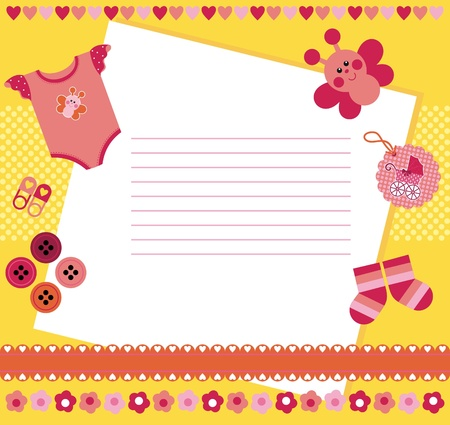 Paper for writing. The decor - beautiful baby symbols and patterns Stock Vector - 12369231