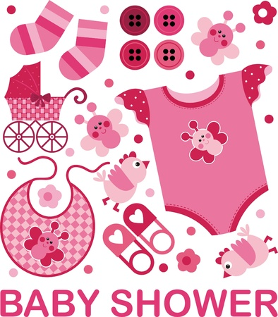A set of vector images on the childs birth Vector