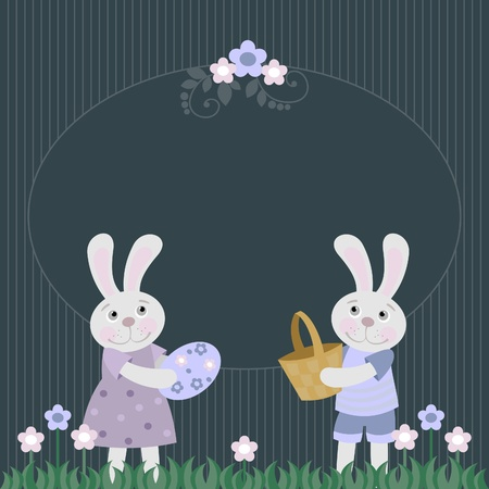 Easter bunny with Easter eggs, Stock Vector - 12497751
