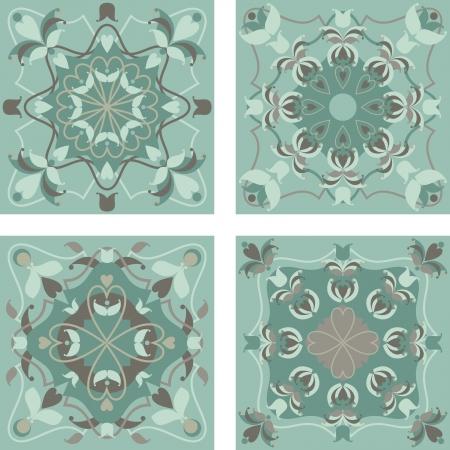 carpet flooring: oriental floral ornamental carpet design