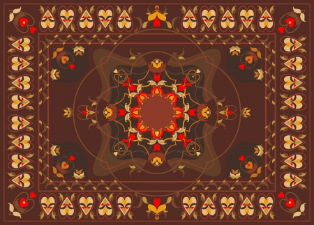 oriental carpet design Vector