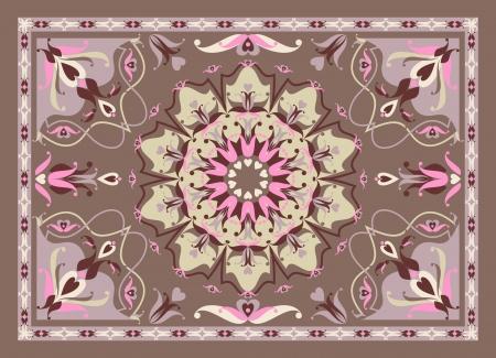 ペルシア: 東洋のカーペットのデザイン、ベクトル イラスト  イラスト・ベクター素材