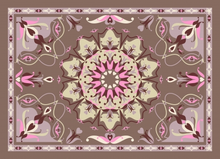 oriental carpet design, vector illustration