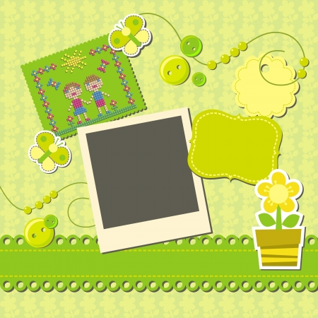 template for the scrapbook Vector
