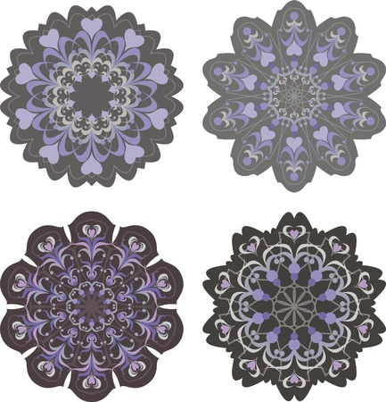 carpet flooring: oriental floral ornamental carpet design, vector illustration Illustration