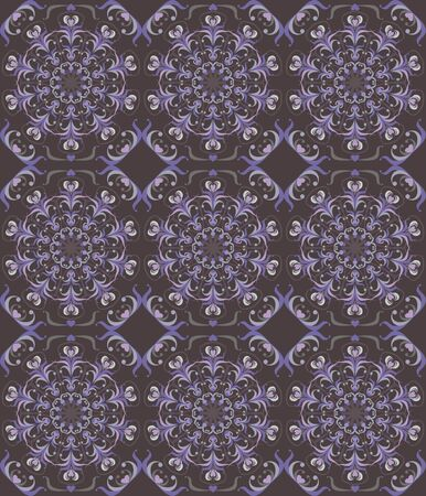 Floral seamless background - pattern for continuous replicate Vector