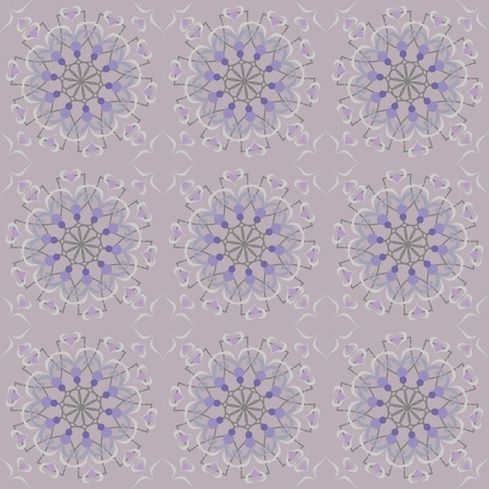 oriental floral ornamental carpet design, vector illustration Vector