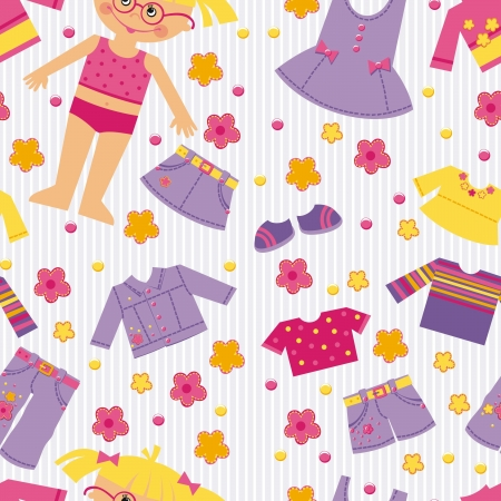 background with clothes for girls Vector