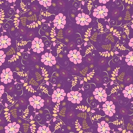 Abstract background with flowers, fashion seamless pattern,  illustration Vector