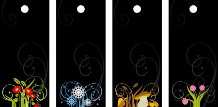 set of price tags with the seasons,  illustration Stock Vector - 14850310