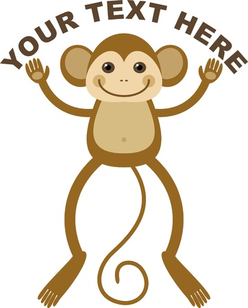 symbolic image of the Monkey,  illustration Vector