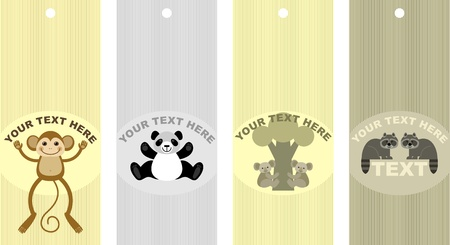 labels with pictures of animals,illustration Vector