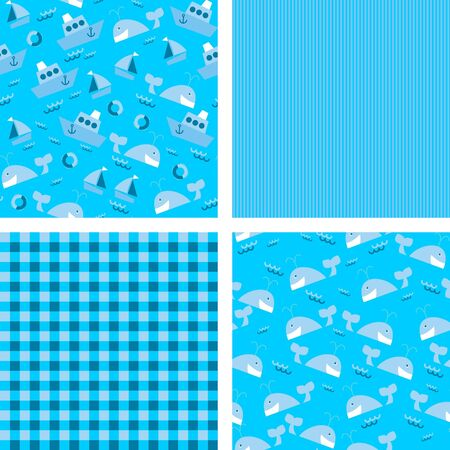 a set of backgrounds for scrapbook, illustration Stock Vector - 14850335