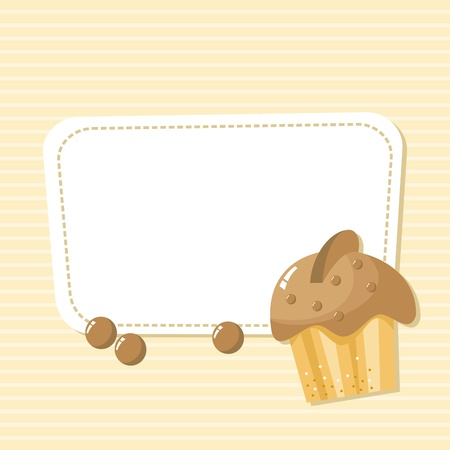 card with a picture of the cake with chocolate Vector
