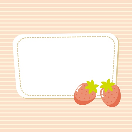 card with a picture of strawberries, illustration Vector