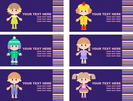 set of tags with children Stock Vector - 17354805