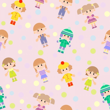 Cartoon seamless pattern for children background Vector
