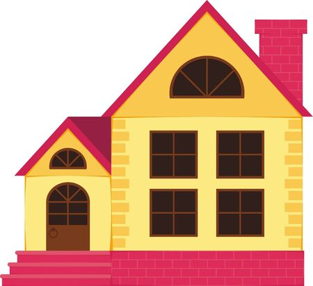 Picture of a small house for a family Vector