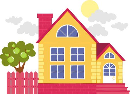 Picture of a small house for a family Stock Vector - 17441633