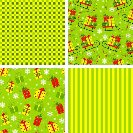 set of backgrounds for christmas, vector illustration Stock Vector - 17664853