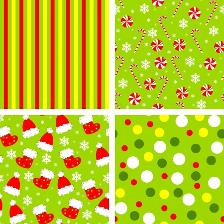 set of backgrounds for christmas Vector