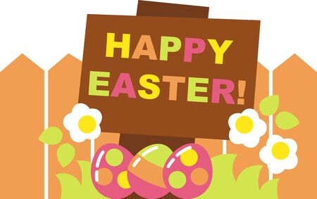 easter fence Stock Vector - 17954399