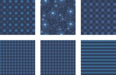 set of vector pattern paper for scrapbook Vector