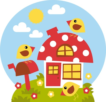 house-fungus in young chickens Stock Vector - 18150539
