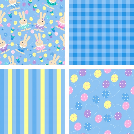 seamless backgrounds for easter Vector
