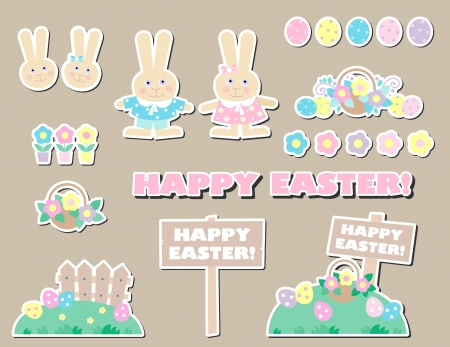 easter labels and tag Stock Vector - 18438458