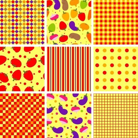 seamless background with vegetables, pattern,  illustration Vector