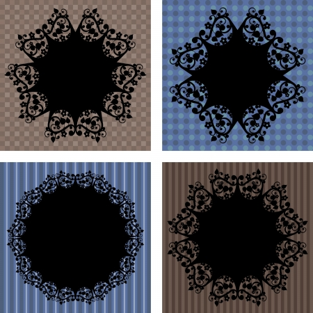 lace napkins on different backgrounds, vector illustration Vector
