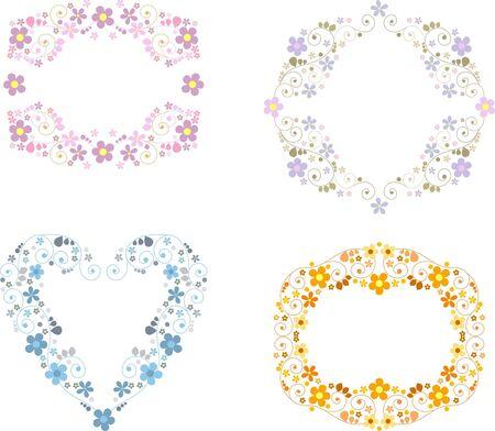 purple wreath: vignette with floral ornaments