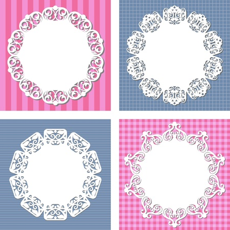 backgrounds with napkins Vector