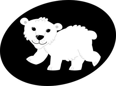 bear – vector illustration, polar bear in the zoo Stock Vector - 19053097