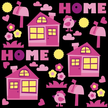 home background – vector illustration Vector