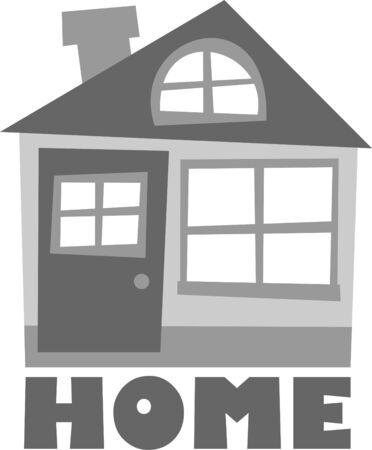 house for sale: home sign – vector illustration, house for sale, theme for realtor