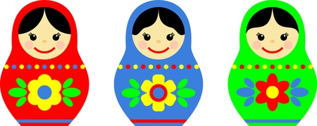 nested: matryoshka, russian souvenir Illustration