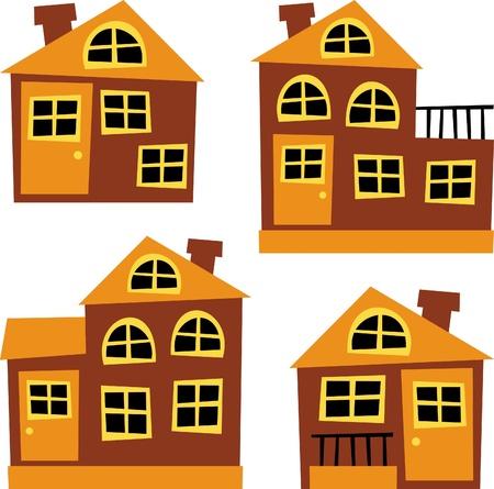 balcony window: house illustration