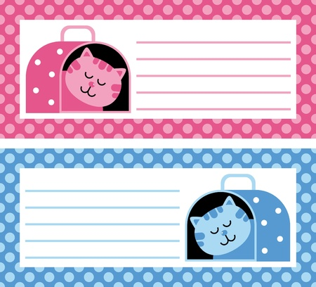 cat carrier: cat carrier card illustration