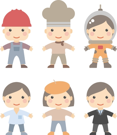 people of different professions, vector illustration Vector
